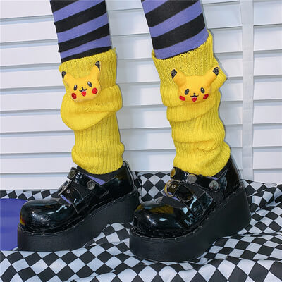 JAPANESE HARAJUKU INS HOT JK PILE UP SOCKS BY77733