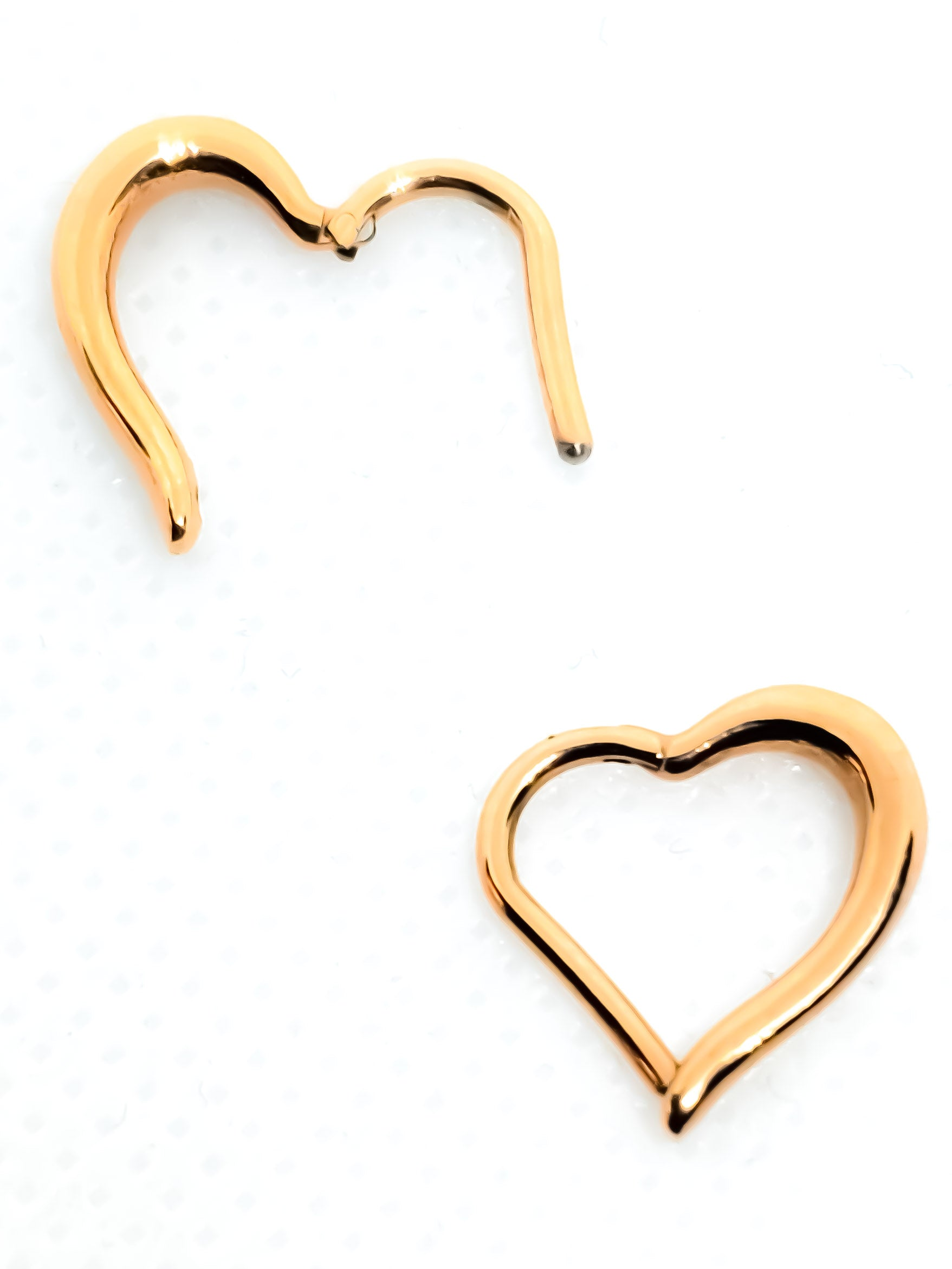 14k Gold Plated 16 Gauge Clicker Heart