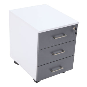 3 Drawer Mobile Pedestal Element – Storm Grey