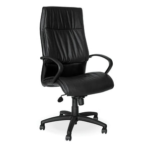 Aurora high back managerial office chair in PU with arms and gas lift from Desk & Chair shop