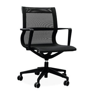 Finch mesh operators office chair in black with gas lift from Desk & Chair shop