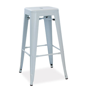 Metro office canteen cafeteria bar stool in colour steel from Desk & Chair shop
