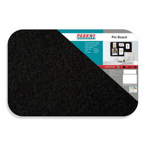 Black felt borderless pinboard from Desk & Chair shop