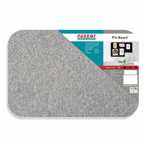 Grey felt seamless pinboard from Desk & Chair shop