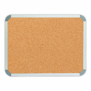 Cork pinboard with aluminium frame 600x450 from Desk & Chair shop