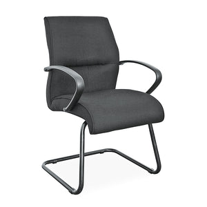 Rio bonded leather office visitors chair with arms from Desk & Chair shop
