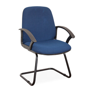 Madrid office visitors chair in blue with black base and arms from Desk & Chair shop