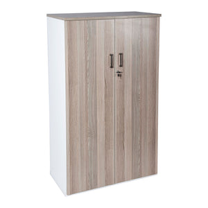 Office storage systems cabinet/cupboard with 2 doors and wood melamine colours from Desk & Chair shop.