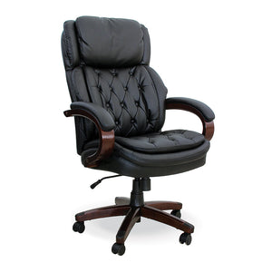 Washington executive bonded leather office chair with wooden legs from Desk & Chair shop