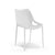 White canteen dining chair in plastic with ventilated pattern from Desk & Chair shop