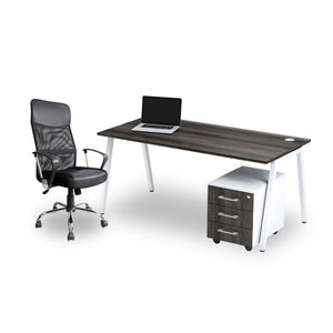 Single A-frame home office desk with steel frame and Spartan high back office chair from Desk & Chair shop