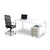 Modern Connect home office single desk with Spartan office chair from Desk & Chair shop