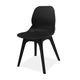 Modern black plastic canteen dining chair with no arms from Desk & Chair shop