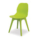 Modern lime green plastic canteen dining chair with no arms from Desk & Chair shop