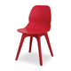 Modern red plastic canteen dining chair with no arms from Desk & Chair shop