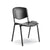 Basic black plastic canteen cafeteria chair with black steek frame from Desk & Chair shop