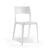 Sleek white plastic canteen cafeteria chair from Desk & Chair shop