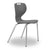 Mata canteen/cafeteria chair in grey plastic shell and silver steel legs from Desk & Chair shop.