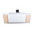 Classic straight office reception welcome desk/counter unit in white and wood melamine from Desk & Chair shop