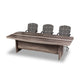 Vice office boardroom meeting table in wood melamine and panel legs from Desk & Chair shop