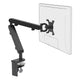 Z1 small computer monitor arm in black with black cap from Desk & Chair shop