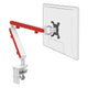 Z1 small computer monitor arm in white with red cap from Desk & Chair shop