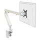 Z1 small computer monitor arm in white with white cap from Desk & Chair shop