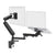 Zbridge double computer monitor and laptop arm in black with black cap from Desk & Chair shop