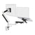 Zbridge double computer monitor and laptop arm in white with black cap from Desk & Chair shop