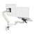 Zbridge double computer monitor and laptop arm in white with white cap from Desk & Chair shop