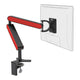 ZGO large computer monitor arm in black with red cap from Desk & Chair shop