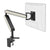 ZGO large computer monitor arm in black with white cap from Desk & Chair shop
