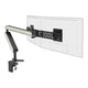 Ztwin computer double monitor arm in black with white cap from Desk & Chair shop