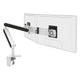 Ztwin computer double monitor arm in white with black cap from Desk & Chair shop