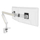 Ztwin computer double monitor arm in white with white cap from Desk & Chair shop