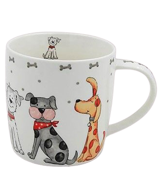 Faithful Friends Dog Print Mug | Design 1