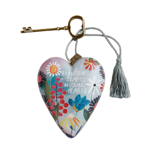"DEMDACO Art Heart - 10cm/4"" Friendship Loving Hearts"
