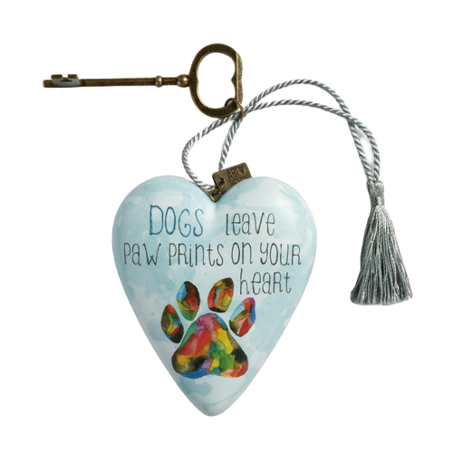 "DEMDACO Art Heart - 10cm/4"" Paw Prints"