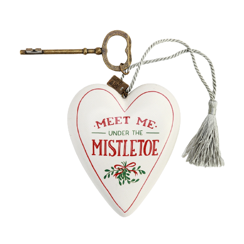 "DEMDACO Art Heart - 10cm/4"" Under The Mistletoe"