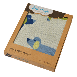 Boxed Sausage Dog Jacquard Cotton Baby Blanket - Hansel and Gretel Coffee House