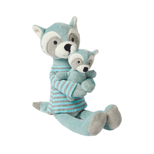 Racoon Aqua Plush with Baby - Hansel and Gretel Coffee House