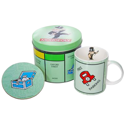 Monopoly Mug & Coaster Set - Hansel and Gretel Coffee House