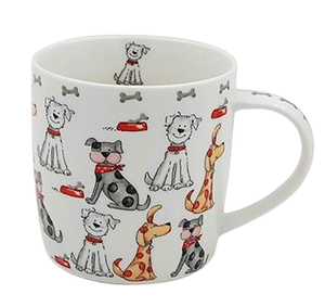 Faithful Friends Dog Print Mug | Design 2