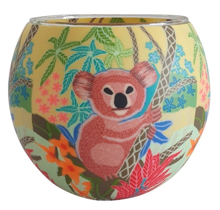 Glowing Glass Candle Holder | Koala