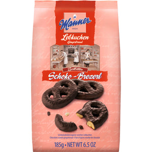 Manner chocolate-coated gingerbread pretzels 185g
