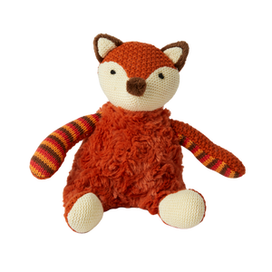 Plush Rust Fox with Rattle - Hansel and Gretel Coffee House