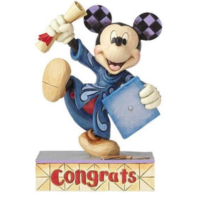 JIM SHORE DISNEY TRADITIONS - MICKEY MOUSE GRADUATION - CONGRATS! - Hansel and Gretel Coffee House