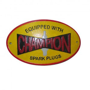 Champion Spark Plugs Sign - Hansel and Gretel Coffee House