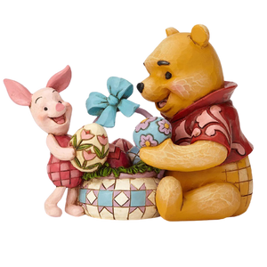 "Disney Traditions by Jim Shore - 12cm/4.8"" Pooh & Piglet Easter, Spring Surprise"