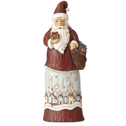 "Heartwood Creek By Jim Shore - 29cm/11.5"" Santa with Satchel of Gifts *CHRISTMAS SPECIAL! WAS $105, NOW $74*"
